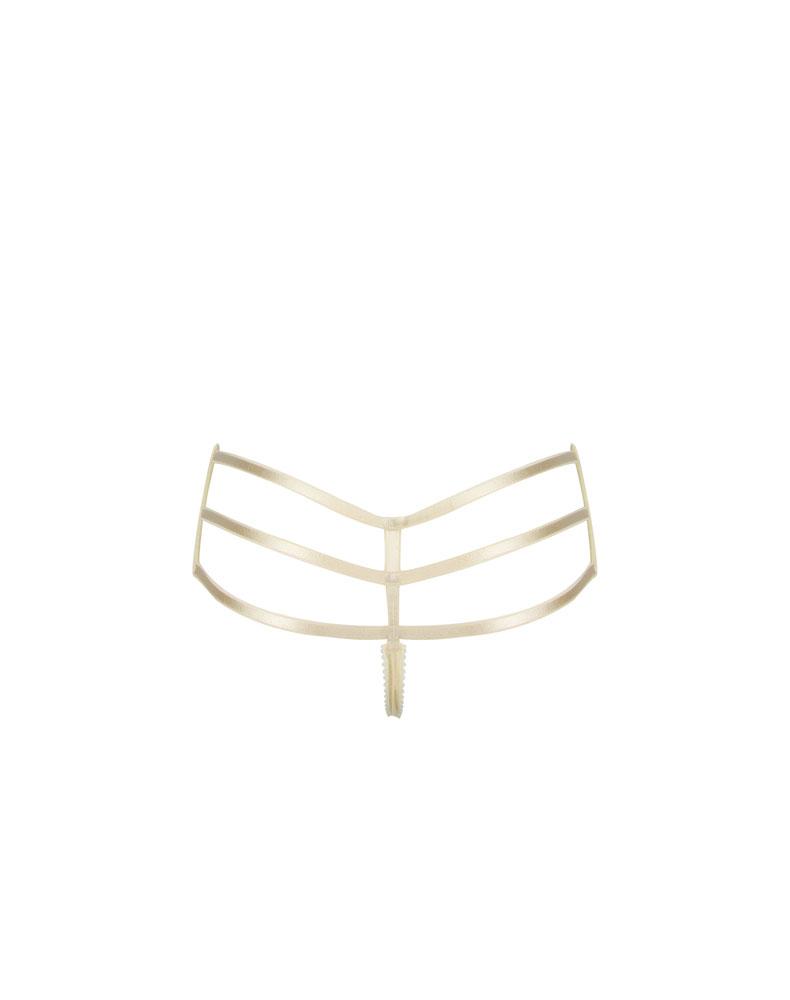 b0b95ac3d371 Wide Triple Strap Thong – Vegas Gold | E.L.F ZHOU London